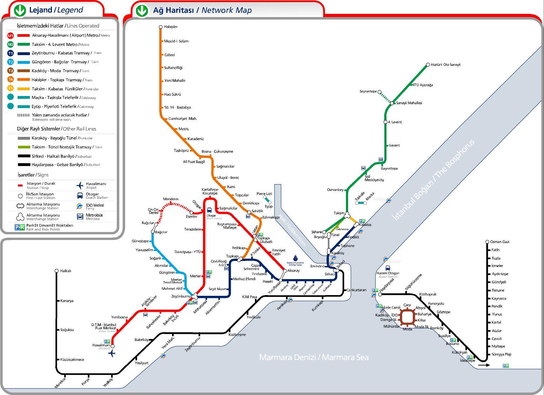 Схема трамвай стамбул