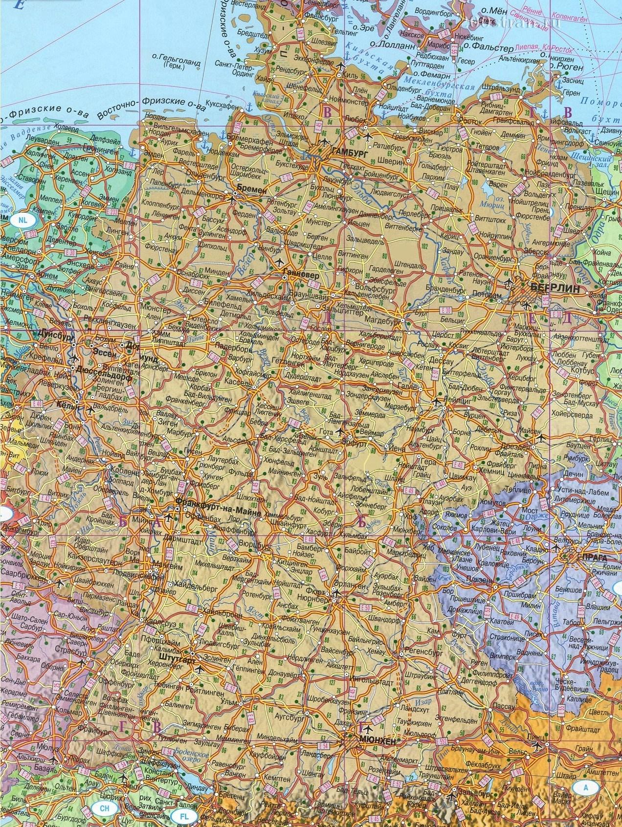 Podrobnaya Karta Germanii Na Russkom Samostoyatelnoe Puteshestvie